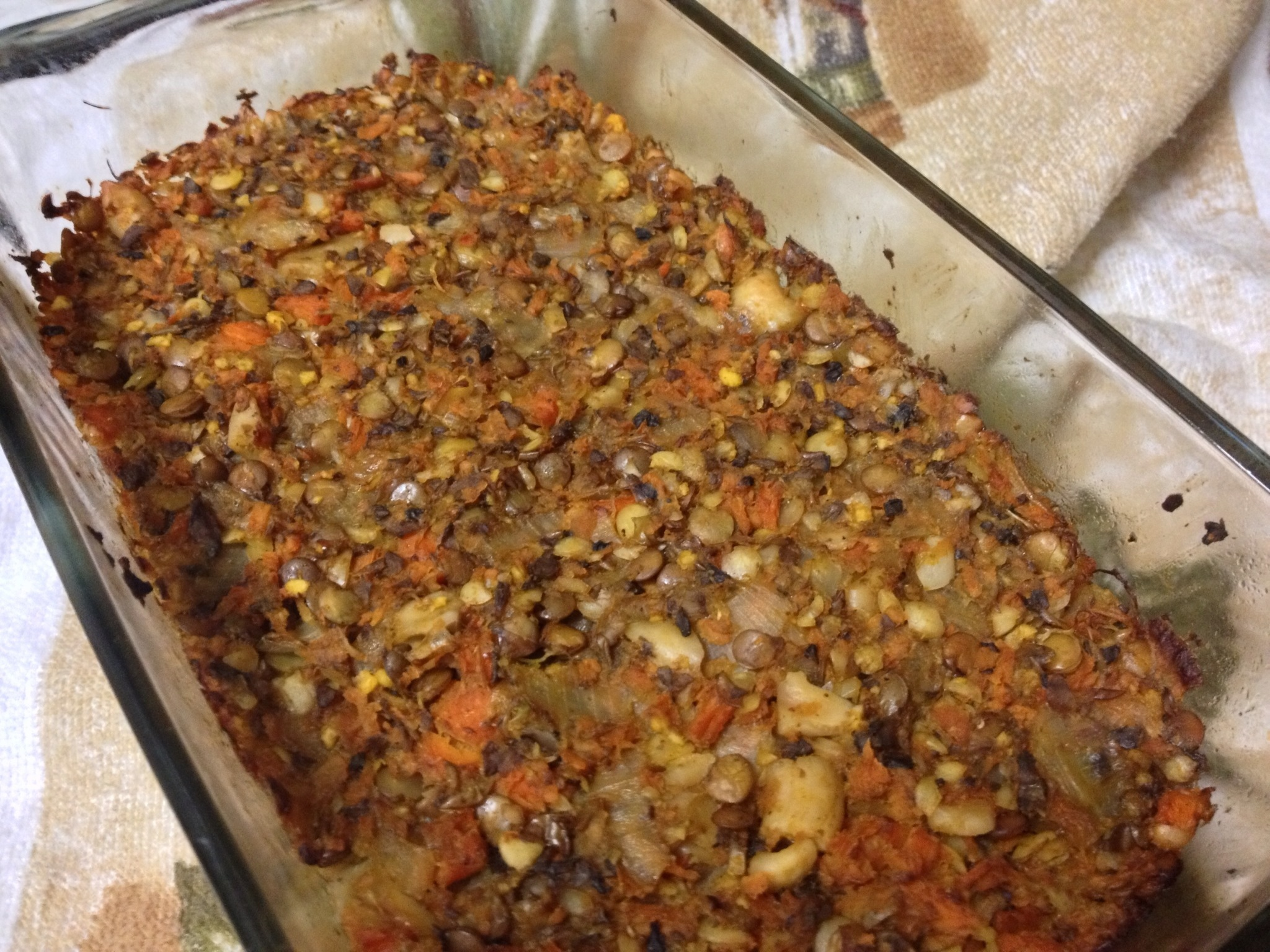 Sprouted Lentil Loaf with Sweet Potato & Mushrooms, Vegan,GF | Heather ...
